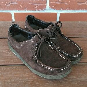 Yellow Box Brown Suede Wallabee Loafer Shoes 6.5